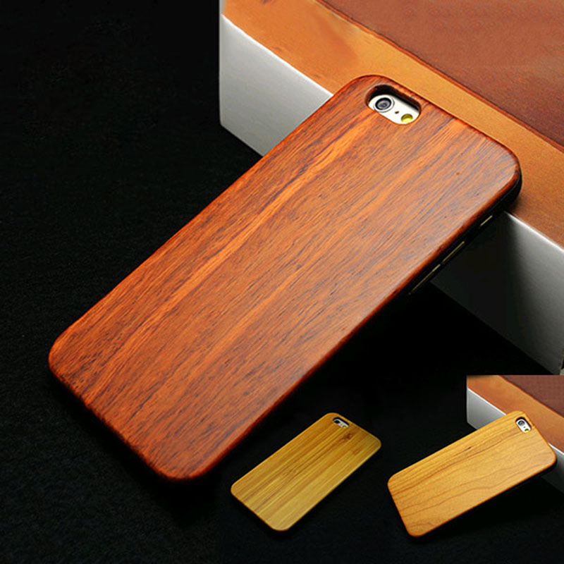 light luxury natural bamboo cherry wood wooden retro style hard cover phone case for iphone 6 4. Black Bedroom Furniture Sets. Home Design Ideas