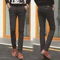 Moda elástico de algodón a cuadros pantalones cultiva su moralidad pies Cultivar la propia moralidad los pantalones del ocio
