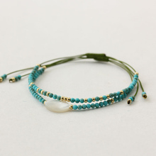 Ethnic Women Bracelet Beads Small With Shell Pearl Natural S