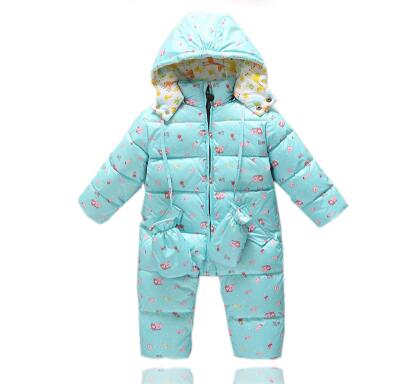 Winter baby warm romper boys snowsuit duck down baby romper hoodies Newborn overalls winter clothes kids girls children jumpsuit