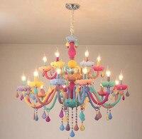 Современная красочная хрустальная люстра светит хрустальная люстра романтичная хрустальная люстра современная кухонная люстра