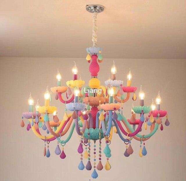 Modern Colorful Crystal Chandelier Lights Lustre Crystal Chandelier Romantic Crystal Chandelier Modern Kitchen Chandelier Light