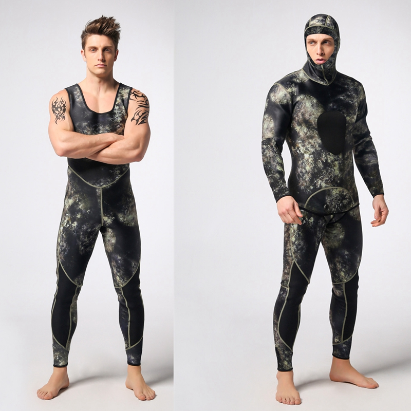 NEW Scuba Diving Suit 3mm for Men Long Sleeves 2pcs Swimming Wetsuit Swimsuit Swimwear недорго, оригинальная цена