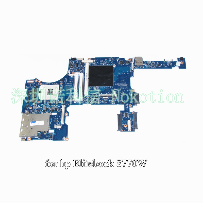 NOKOTION 688746-001 688746-601 For HP Elitebook 8770W laptop motherboard DDR3 SLJ8A With graphics slot nokotion original 686970 001 main board for hp elitebook 8570p laptop motherboard ddr3 with graphics card full test