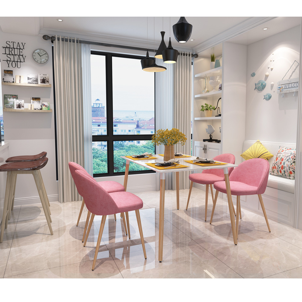online get cheap modern furniture legs aliexpresscom  alibaba group -  pieces per set pinkwhite metal legs armless chair dining chair sidechair home furniture stock in us