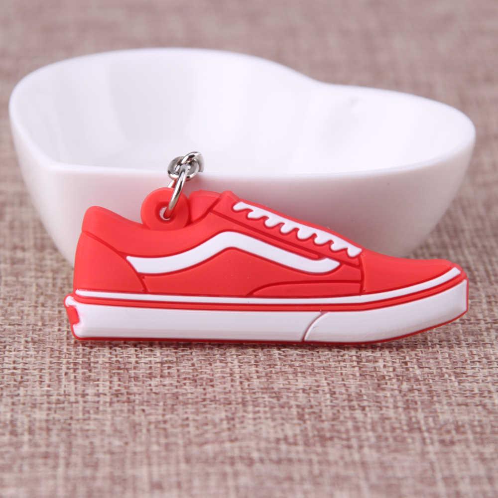 ミニシリコーンヨルダンの靴キーチェーンバッグチャーム女性男性子供キーリングギフトスニーカーキーホルダーキーチェーン