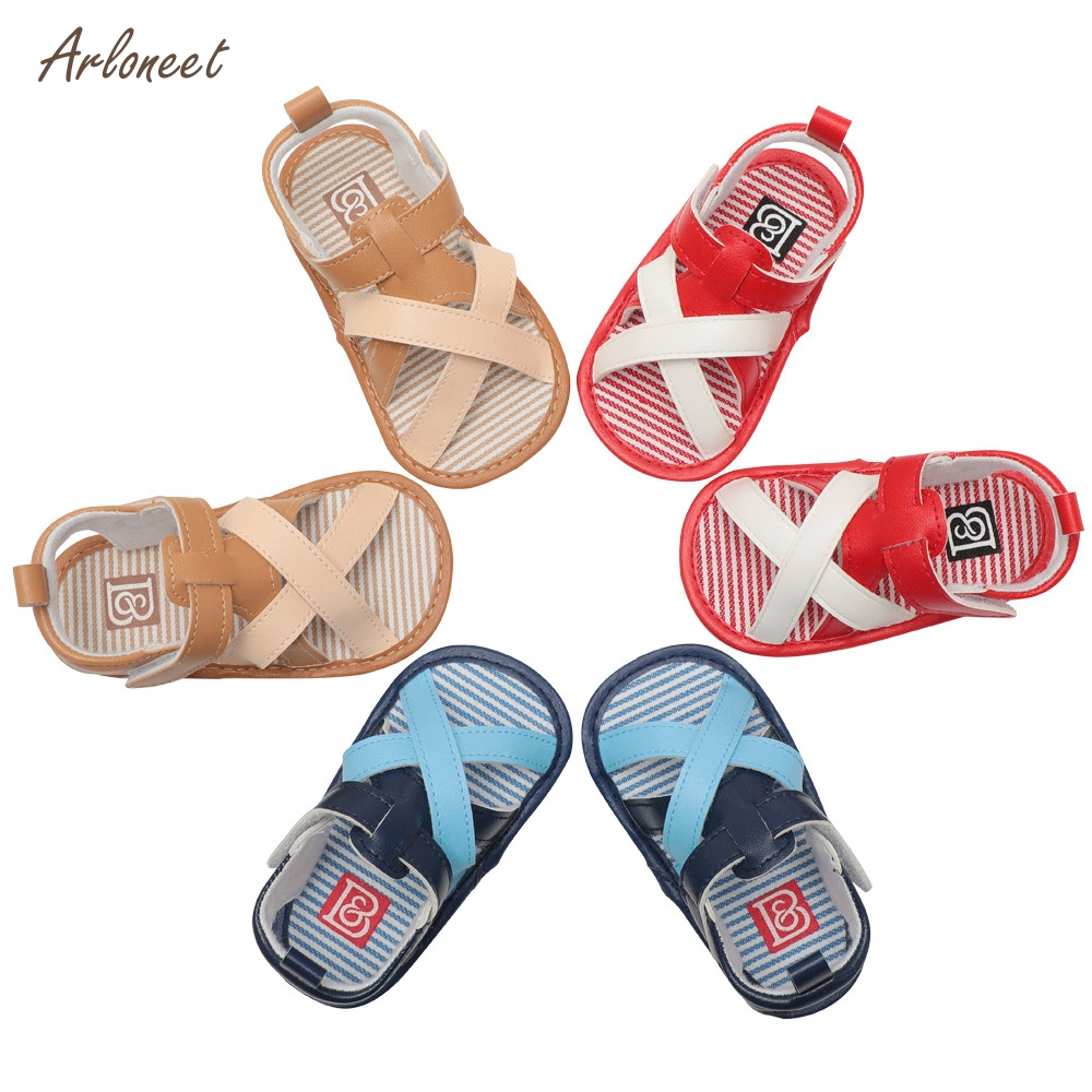 ARLONEET Infant Baby Boys Kids Roman Crib Shoes Soft Sole Anti-slip Straps Sandals Shoes _E22