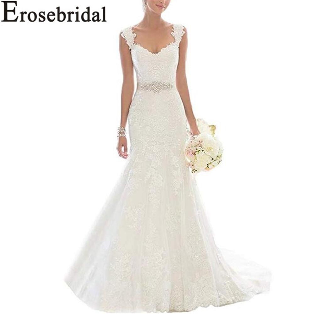 Erosebridal New Arrival Cheap Wedding Dresses 2019 Mermaid