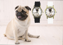 Pug Pet Love Canine Males Girls Watches Sport Informal Black White Silicone Band Unisex Quartz Wrist Watch Offers