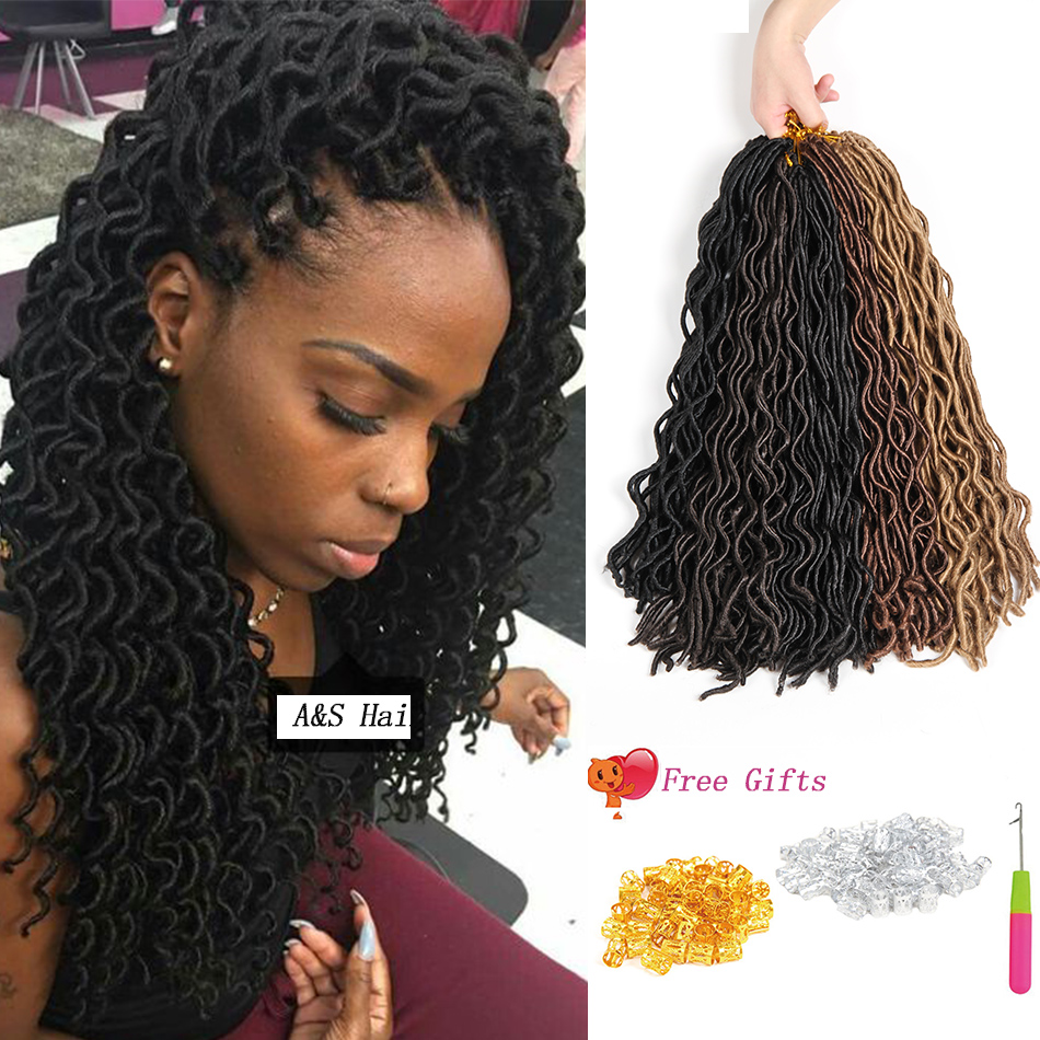 Crochet Box Braids Packs : Locs Synthetic Braiding Hair 20 24roots 90g/pack Crochet Box Braids ...
