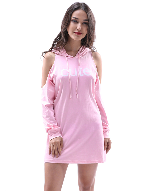 Sexy Off Shoulder Long Sleeve Shirt Dress Women Plus Size Autumn Short Pink  Dresses Girl Preppy 002e96338c95