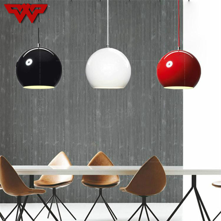 Modern minimalist restaurant lamp creative personality bedroom balcony meal hanging bar bedside ball round Nordic chandelier цена