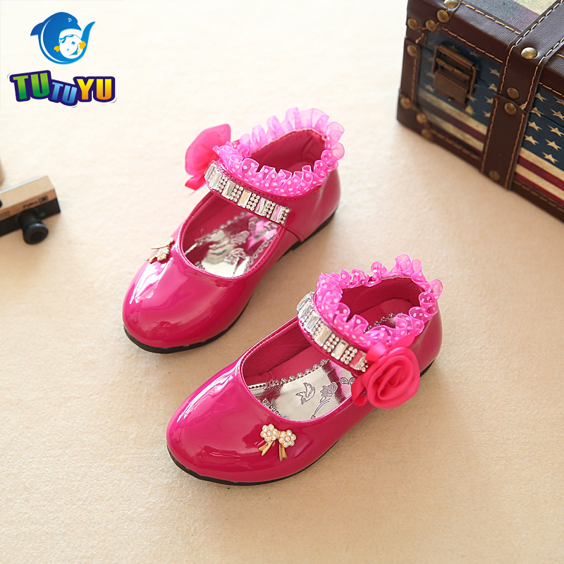 TUTUYU Children Shoes Girls PU Leather Shoes Girls Sandals Kids Designer Single Shoes