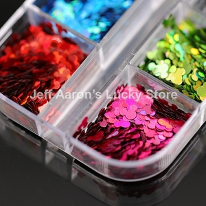 Image 5 - 12 Colors Acrylic Nail Art Glitter Sequins Decals Set For Fake Nails Tips Decoration Beauty Manicure Tools Mouse