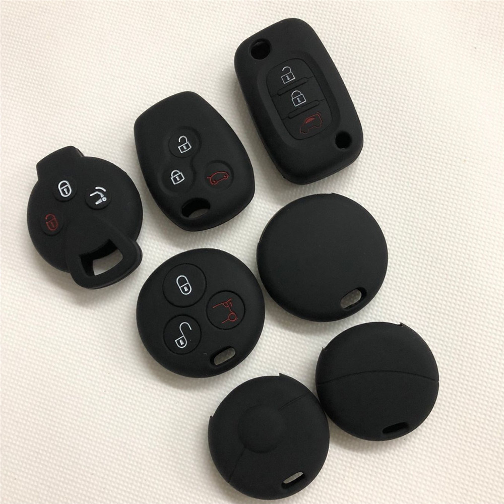 3 Button Silicone Car Key Case Cover For Benz Smart Coupe Key Cover Case Shell
