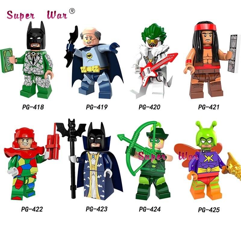 50 Stücke Marvel Dc Master Batman Figur Crazy Quilt Master Batman Cacique Mörder Motte Pfeil Alfred Bausteine Spielzeug Für Jungen