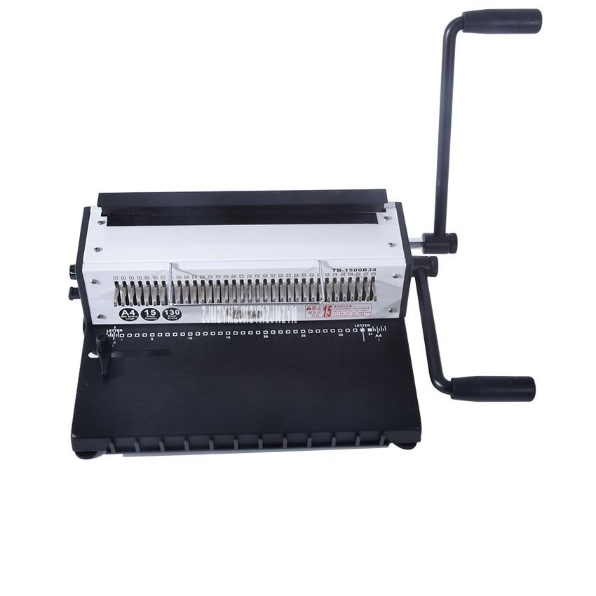 1 PC A4 Size Book Binding Machine ,34 Holes Puncher Binding Combs Punching Machine Comb Binding Machine contrast binding tee