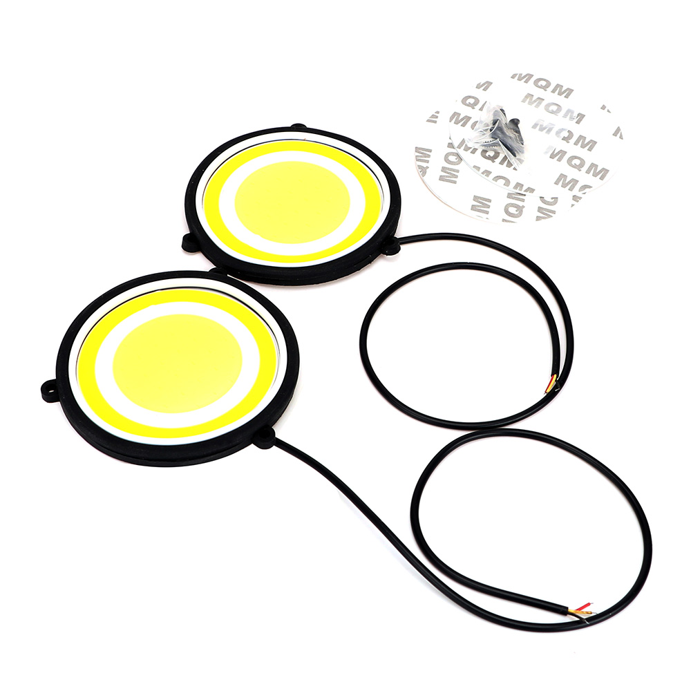 ITimo External Lights Round Shape Universal Flexible Car Styling Bendable Daytime Running Light COB LED Lamp DRL Turn Signals
