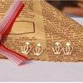 145 Roxi Brincos Earing Букле Bijoux Позолоченный Крест Корона Серьги Для Женщин Свадебное Серьги Девушки Ювелирные Изделия в Одном Направлении