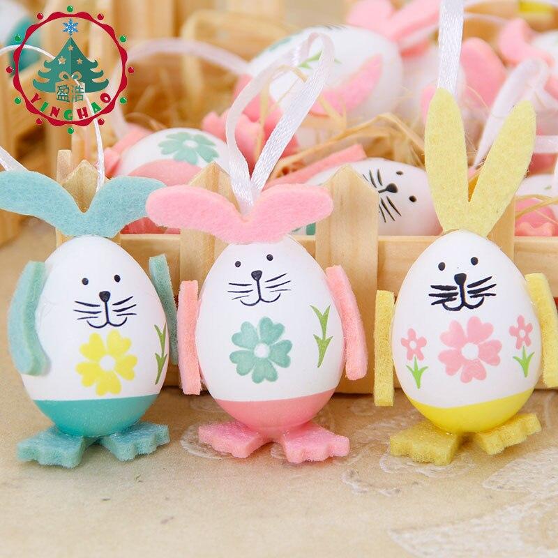 inhoo 9pcs Easter Eggs Rabbit Gift Desktop Ornament Easter Decor - Feestversiering en feestartikelen - Foto 2