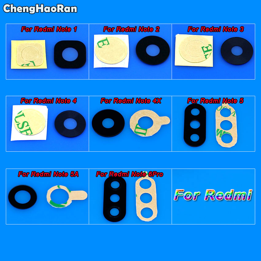 Chenghaoran Sticker Camera-Lens Redmi Xiaomi Replacement Note-1 for Note-1/2-3-4-4x5/5a/..