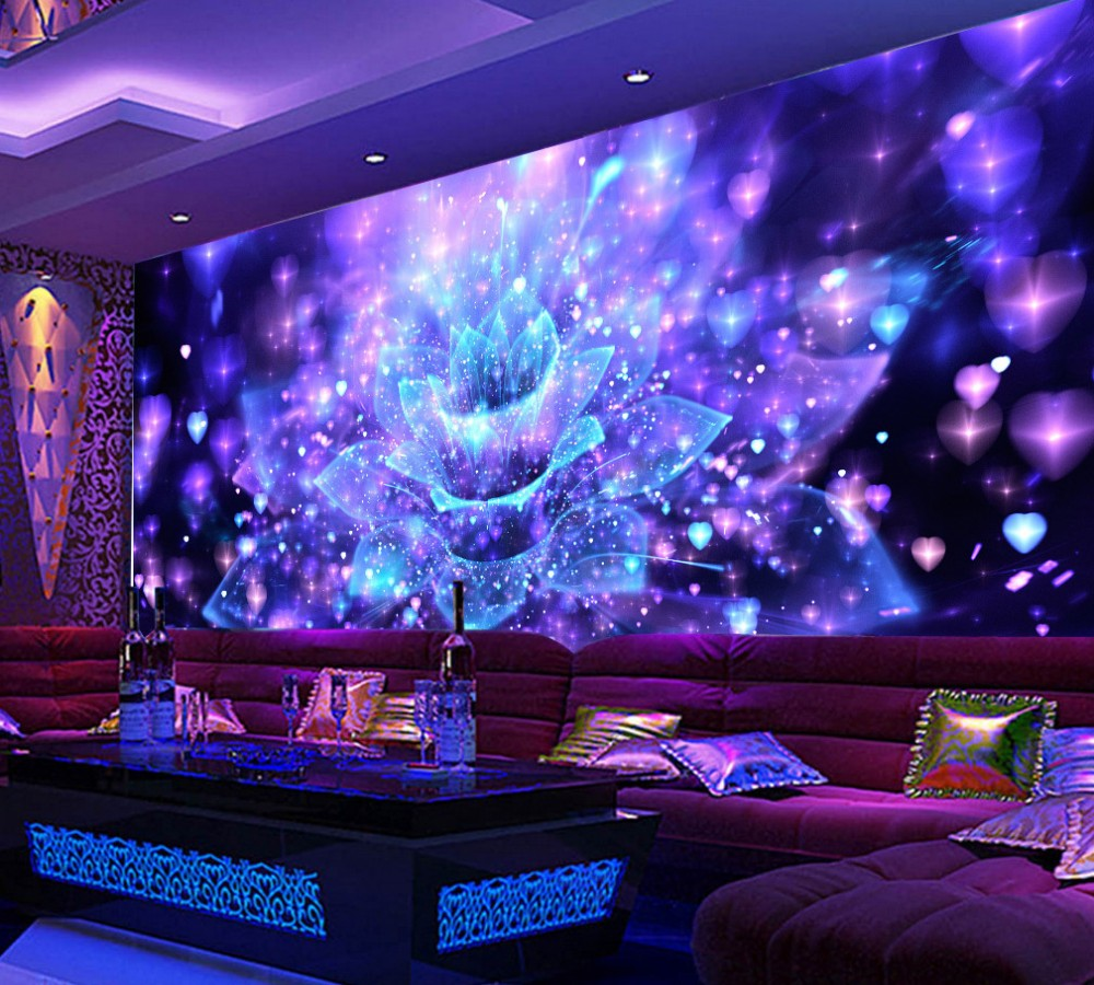 Us 170 50 Offfree Shipping Cool Night Club Flower Bar Ktv Tooling Wall Custom 3d Wallpaper Mural Hotel Wallpaper Restaurant Best Mural In