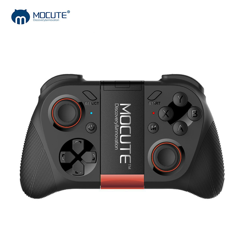 MOCUTE 050 VR Game Pad Android Joystick <font><b>Bluetooth</b></font> Controller Selfie <font><b>Remote</b></font> <font><b>Control</b></font> <font><b>Shutter</b></font> Gamepad for PC Smart Phone + Holder image