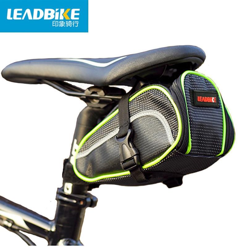 Leadbike vélo selle sac portable étanche vtt cyclisme vélo arrière tail poche paquet siège sac pannier vélo accessoires
