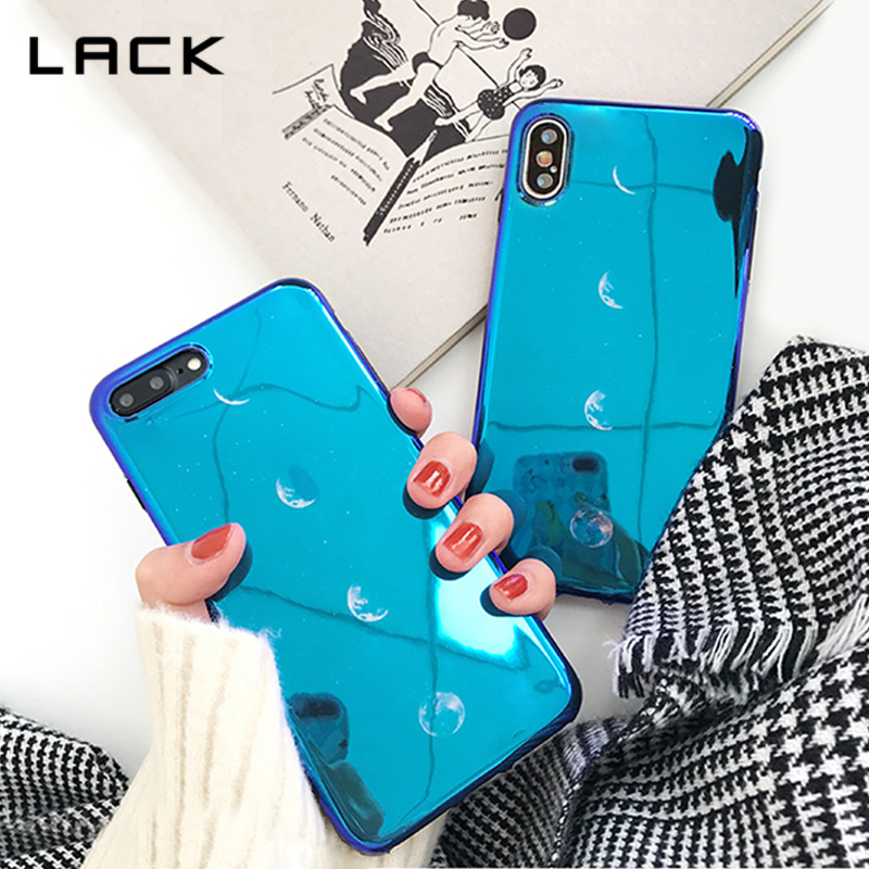 LACK Blu-ray Fashion Space Phone Cases For iphone X Case For iphone 7 6 6s 8 Plus Eclipse of the Moon Soft Back Cover Coque Capa ...