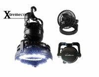 Xtremecraft Portátil 18 Brillo Estupendo LED de Luz Blanca Bombillas 2.5 W 2 En 1 Ventilador de Camping Latern Linterna Ligera Al Aire Libre Con colgar