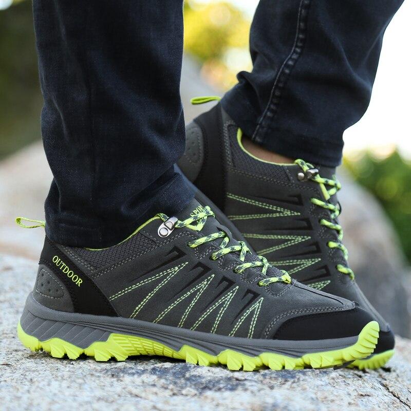 WANAYOU Outdoor Hiking Shoes Low-top Wear-resistant Mountaineering Shoes Anti-slippery Men Women Climbing Trekking Sneakers