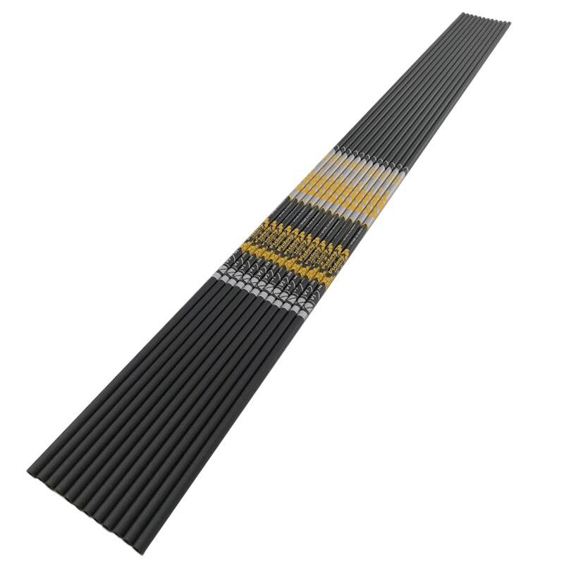 Tir à l'arc colonne vertébrale 500 600 700 800 30.5 pouces ID4.2mm carbone flèche arbre courbe arc Longbow chasse tir