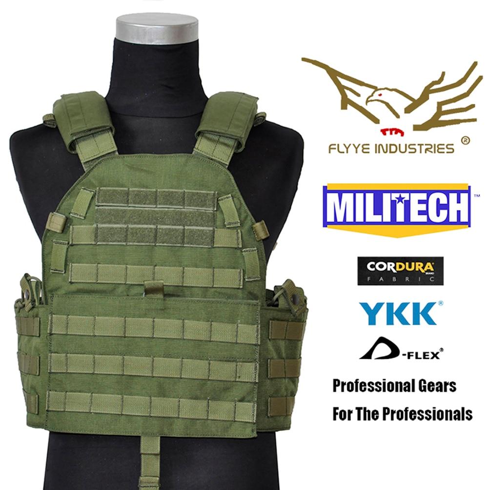 MILITECH Flyye Mil Spec Military LT6094 Oliver Drab OD Combat Molle Tactical Vest Army Military Combat Vests & Gear Vest Carrier