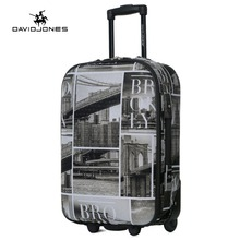 DAVIDJONES 28 inches large luggage fixed wheels trolly suitcase