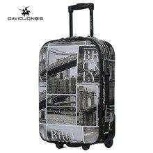 Davidjones 28 дюйм(ов) большой камера с фиксированным колеса trolly чемодан