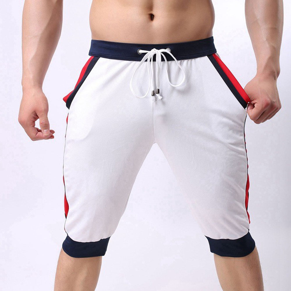 Brand Men G-ym Shorts Cotton Beach Boxer Sexy Fitness Wear Baseball Fit-ness capri Designer Shorts New G-ym Trunks FX1023
