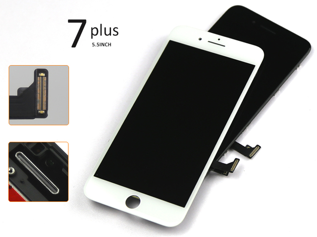 3pcs/lot 100% New Alibaba china 5.5 inch For iPhone 7 plus LCD Display and Touch Screen Digitizer Assembly Free Shipping