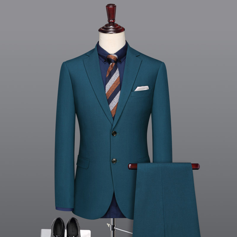 Men Dress Suits 2018 Spring Summer Special Blue Father Day