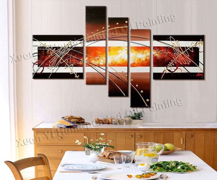 High quality hand painted group triptych wall paintings for Quality home decor