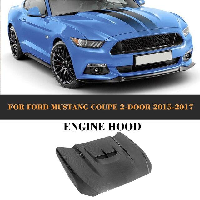 Carbon Fiber Car Front Hauben Deckt Auto Motoren Haube für Ford Mustang Coupe Cabrio 2 Tür 2015 2016 2017