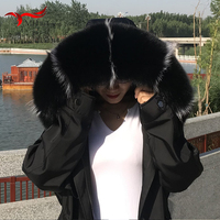 Winter new fox fur collar fashion comfortable scarf furry new color matching large fur collar coat coat collar men women shawl