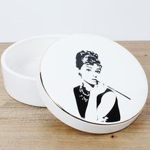 Wholesale ceramic fornasetti Hepburn earrings pendant neckla