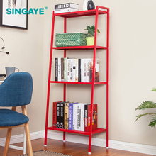 SINGAYE DIY Simple Assembly Metal Reinforced Bookcase Combination Multi Function  Bookshelf Indoor Floor Shelf Display