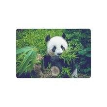 0b7dc26e9c Carino Animale antiscivolo Zerbino Gigante Panda Bear Mangia Bambù Interni  Esterni Zerbino D'ingresso Supporto In Gomma 23.6X15.