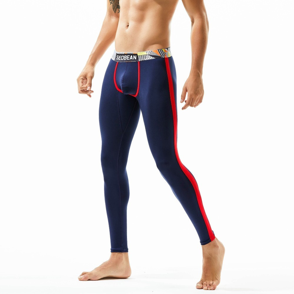 Mens Winter Warm Pants Leggings Long Johns Fleece Thermal Underpants Underwear