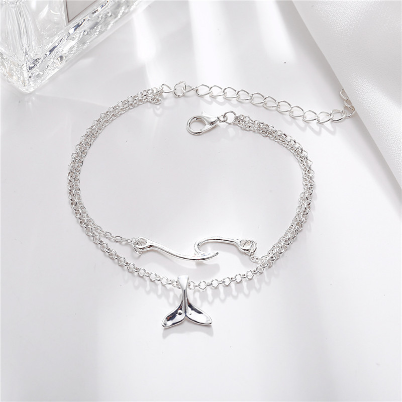 Bohemian wind whale tail anklets