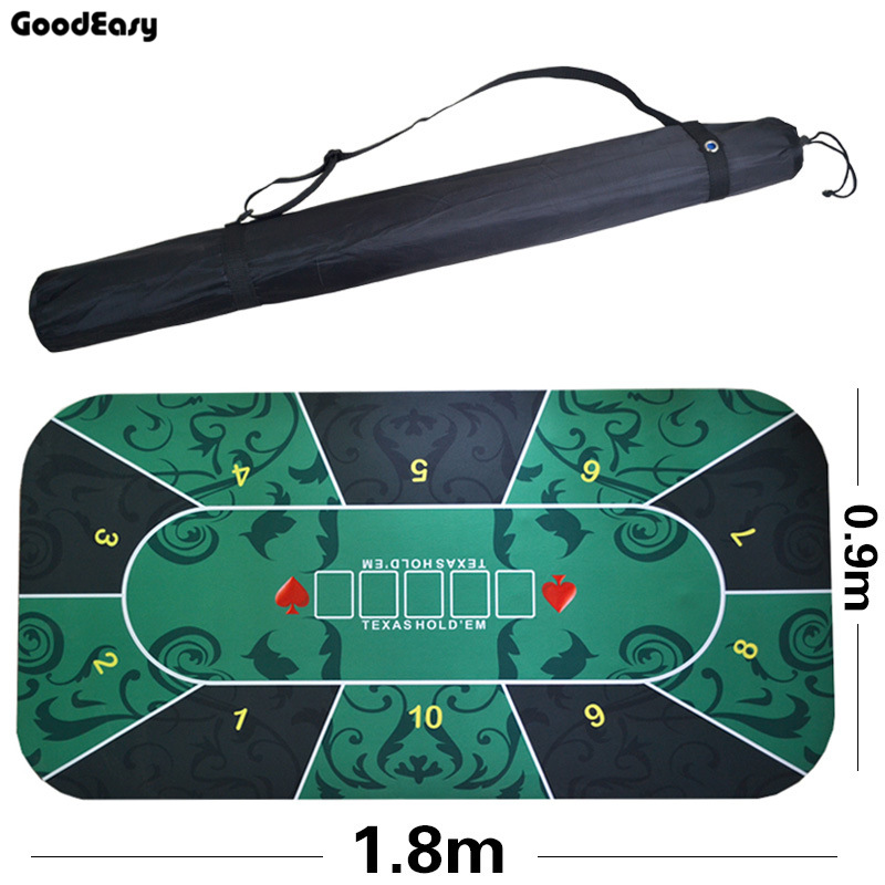 180*90cm Suede Rubber Table Cloth Texas Hold'em Green Casino Poker Tablecloth  Board Game Deluxe Table Cloth With Flower Pattern