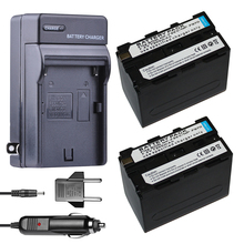 все цены на 2x 7200mAh  NP-F960 Batteries NP-F970 Battery + bateria DC Car Charger For Sony NP-F550 NP-F770 NP-F750 F960 F970 digital Camera онлайн