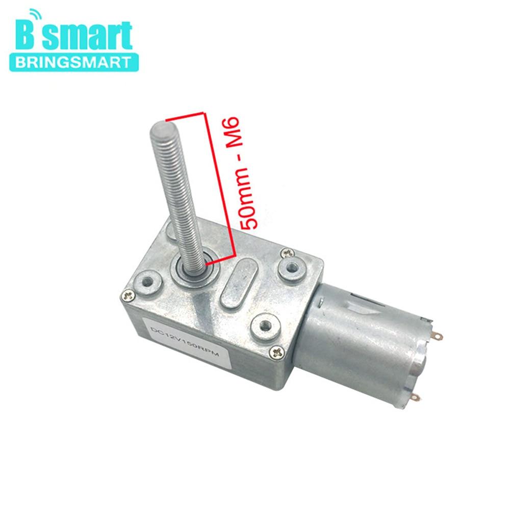 Bringsmart Jgy370 12v Dc Electric Motor Worm Gear Motor 6v