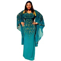 a63c3ed83 African Dresses For Women Elegant Fashion Long Dress Sexy V Neck Beads  Skinny Prom Evening Fashion. Vestidos africanos Para As Mulheres ...